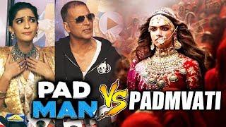 Padman और Padmavati CLASH पर बोले Akshay और Sonam Kapoor