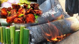 How To Make Bamboo Chicken || Bamboo Chicken Recipe || Chicken Recipes || Live Food