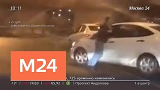 Смотреть видео Погоня из-за дорожного конфликта попала на видео - Москва 24 онлайн