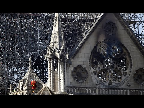 Watch live: Crews continue to assess damage after fire ravages Notre Dame