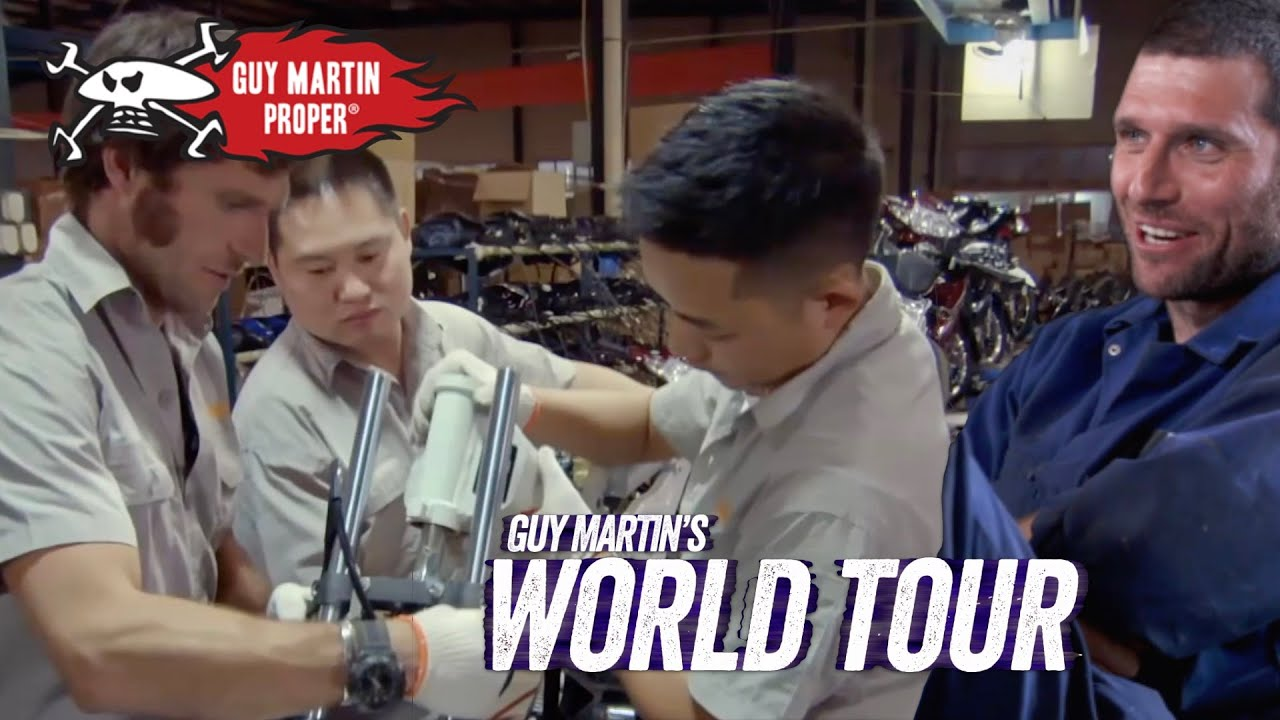 Guy amazed with motorbike building in China   Guy Martin Proper