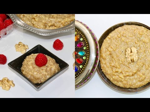 Akhrot Sheera - Walnut Halwa Pudding Video Recipe | Bhavna's Kitchen