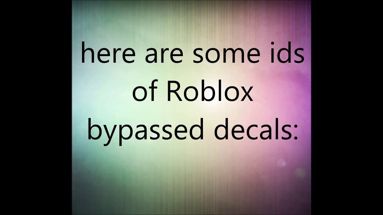 Roblox Picture Decals Ids Get Robux On Ipad