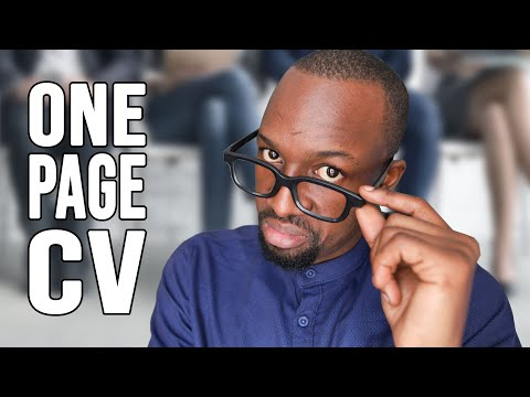 What Makes A Good CV? How To Write A One Page CV (FREE CV Template)