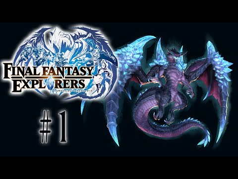 [1] Unlocking Our First Jobs! (Final Fantasy Explorers Multiplayer)
