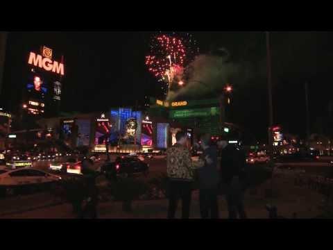 Tiesto's birthday fireworks and celebration at Hakkasan Las Vegas Nightclub