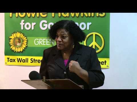 Colia Clark sings the Billionaire Blues - Green Party NY Senate Candidate