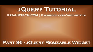 jQuery Resizable Widget