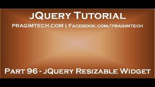 jQuery Resizable Widget
