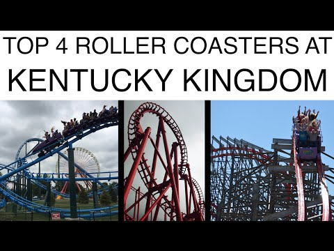 Top 4 Roller Coasters at Kentucky Kingdom