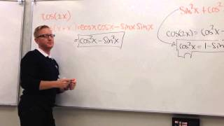 Proof of cos2x=(cosx)^2-(sinx)^2=2(cosx)^2 1=1-2(sinx)^2