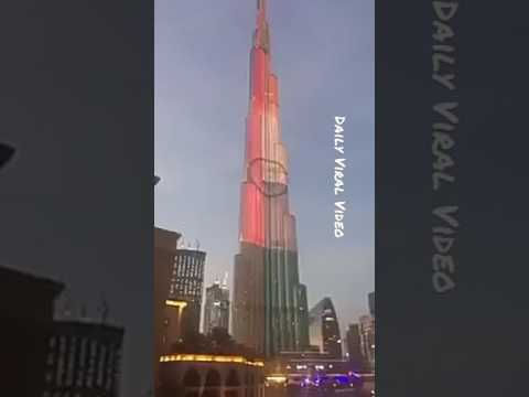 Indian flag on burj khalifa dubai ,Republic day special