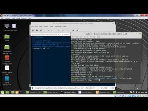 Converting Doc & Docx To PDF Files On Linux With Bash