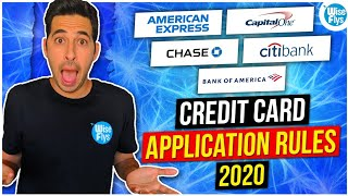 Credit Card Application Rules For Major Banks With High Sign Up Bonuses