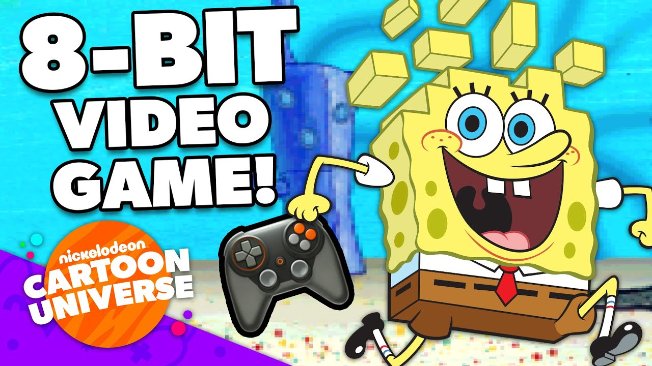 SpongeBob Video Game: 8-Bit Game Adventure Compilation! 🎮 | Nickelodeon Cartoon Universe