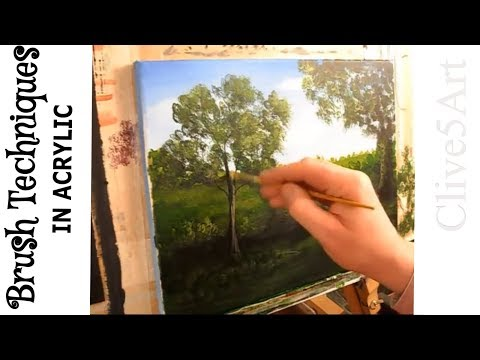 Brush Techniques | learn to paint | acrylic for beginners | #clive5art