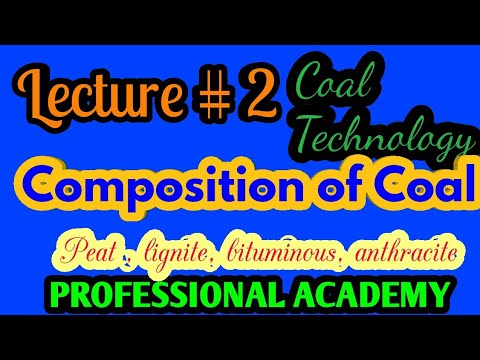 Lecture#2 Composition of coal|| Peat|| lignite|| bituminous|| Anthracite