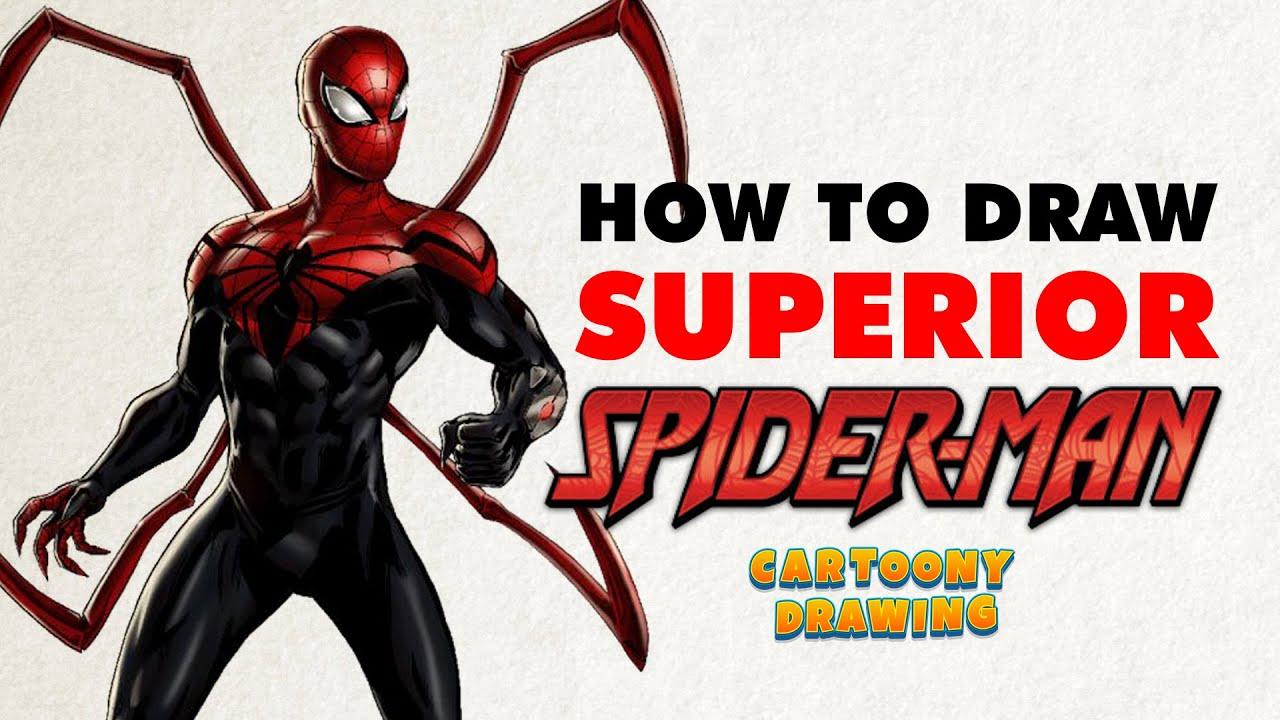 superior spider man how to draw superior spider man in three
