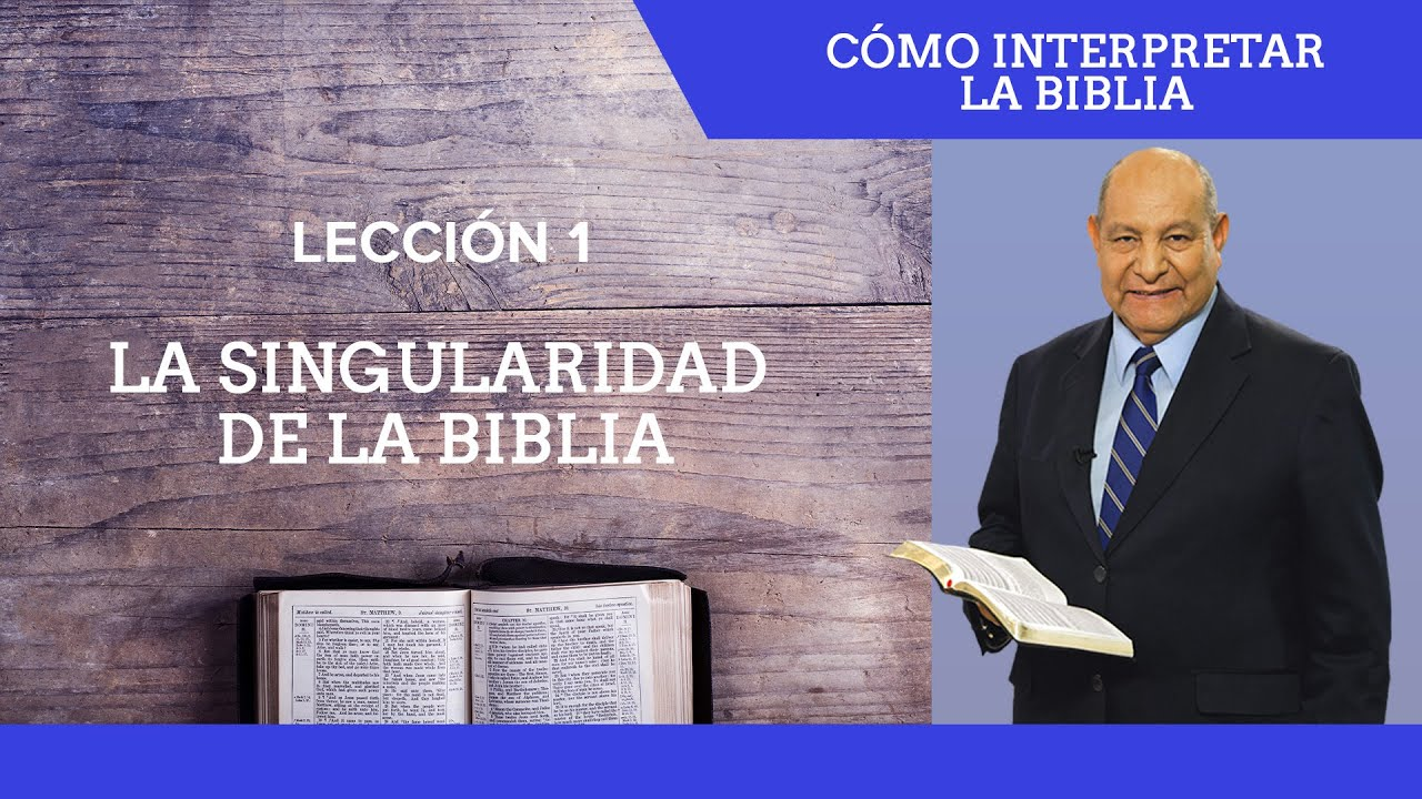 Repaso general leccion 1 - La singularidad de la Biblia | Pr Alejandro Bullon