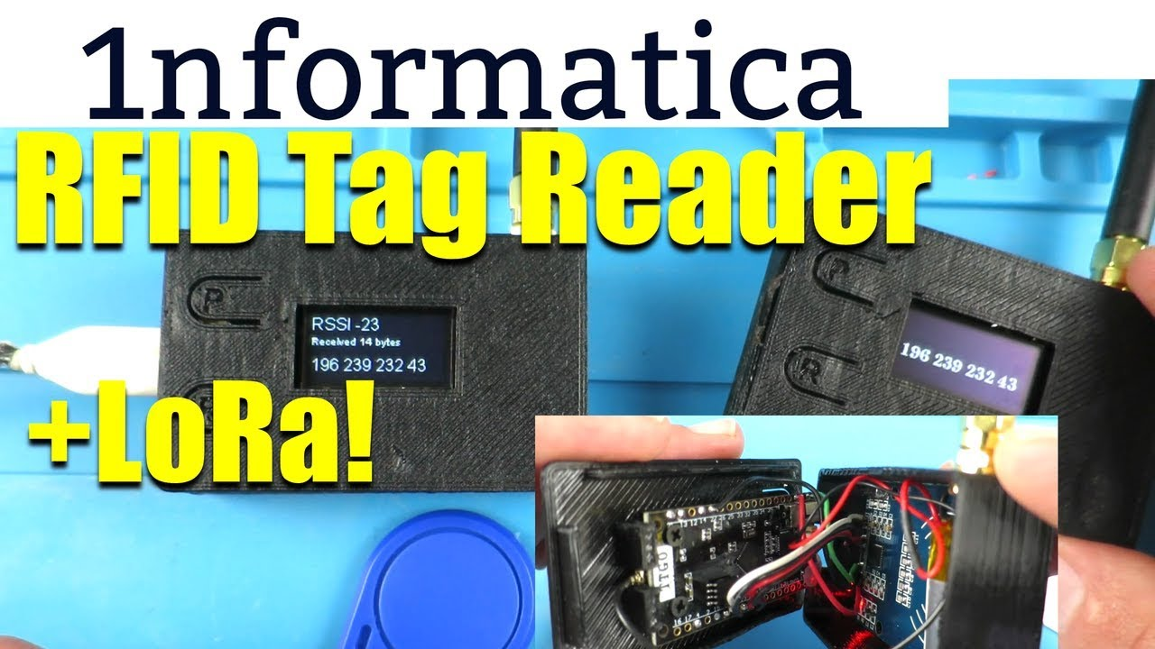 Remote RFID Reader with LoRa & OLED Display - Electronic project