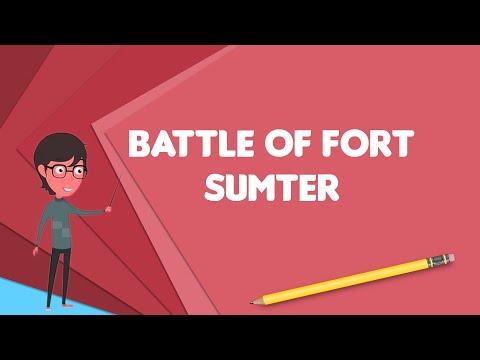 What Is Battle Of Fort Sumter?, Explain Battle Of Fort Sumter, Define Battle Of Fort Sumter
