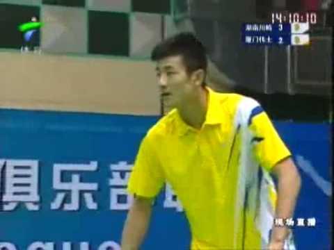 China Badminton League 2009: Bao Chunlai (Hunan) vs (Xiamen) Chen Long 1/7