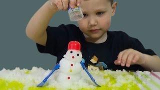 Волшебный снег распаковка делаем снеговика игрушка Magica snow snowman toy unboxing