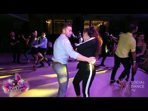 Pedro Perez & Yaiza Melero  - Bachata social dancing   Beirut Salsa Loca 2018