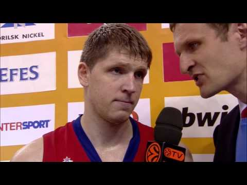Post-game interview: Victor Khryapa, CSKA Moscow