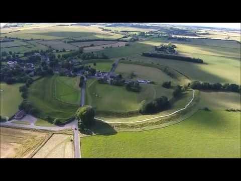 Drone Footage   Avebury Neolithic henge monument