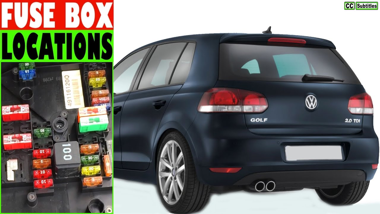 vw golf fuse box location and how to check fuses vw golf fuse box location and how to check fuses
