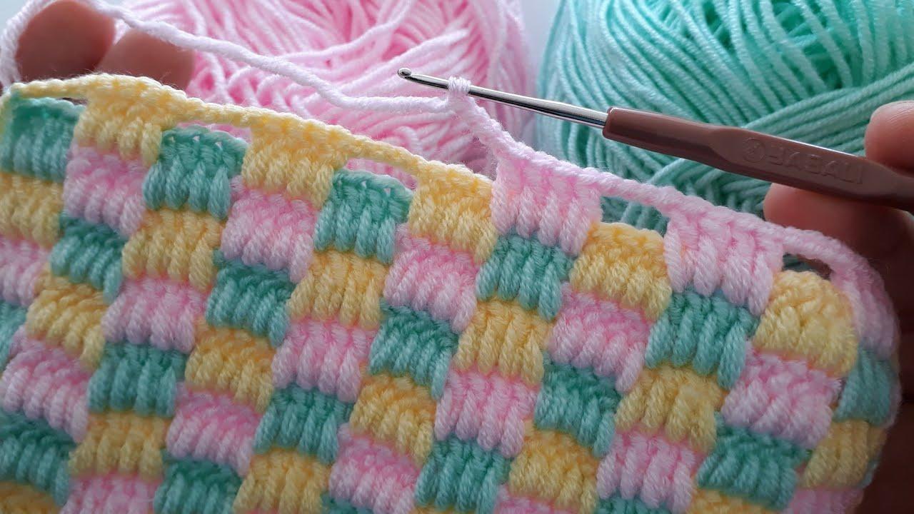 Örgü Modellerim 15 - Battaniye Örgü Modeli 1 / Kolay Örgü Modelleri / Easy Blanket Knitting Pattern