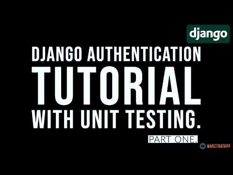 Django authentication tutorial with Test driven development. thumbnail
