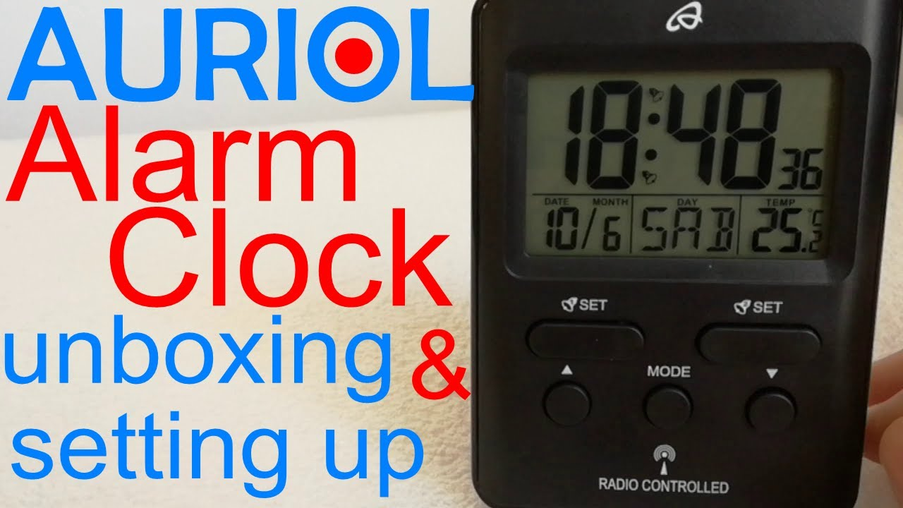 rd 204 lidl auriol radio controlled alarm clock unboxing rh youtube com auriol radio controlled clock instructions lidl auriol radio controlled clock manual