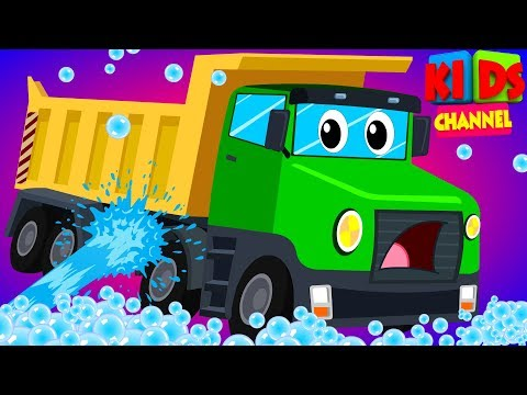 baby's truck visits the car wash in this cartoon car vehicle