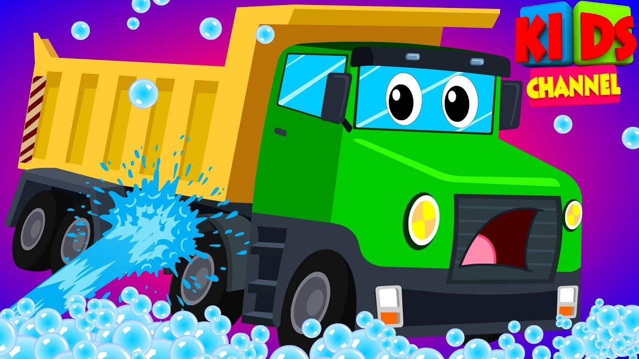 baby's truck visits the car wash in this cartoon car vehicle video for children by Kids Channel