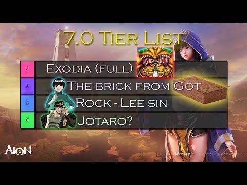 Unist Tier List 2020.Aion 7 0 Classes Tier List Discussion Youtube