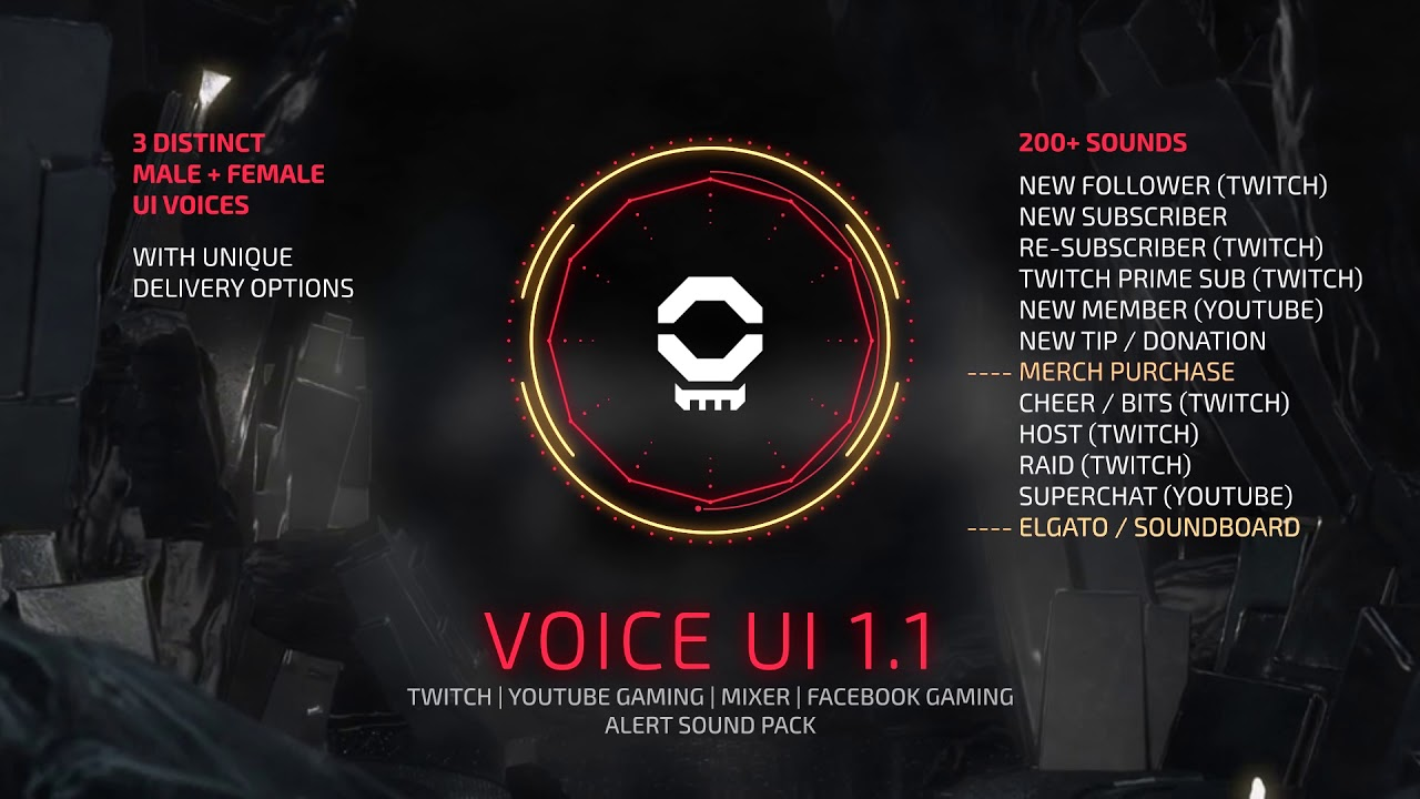 Voice UI Pack - Stream Sound Effects [FREE UPDATE]