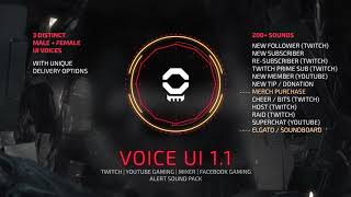 Voice UI Pack Stream Sound Effects