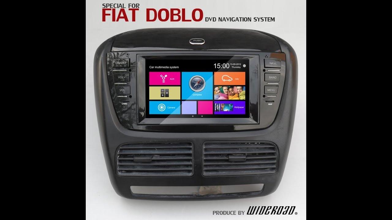 fiat doblo dvd player with gps auto navigation support. Black Bedroom Furniture Sets. Home Design Ideas