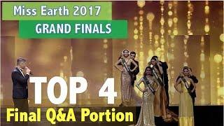 Miss Earth 2017: TOP 4 Final Q&A Portion - Coronation Night (HD)