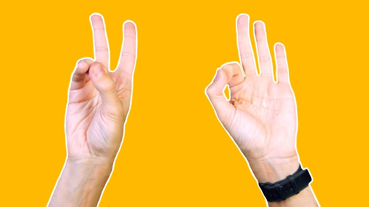 Can You Switch Between The Peace Sign The Ok Sign Youtube