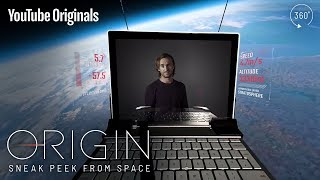 Tom Felton journeys to space to present Origin in 360°