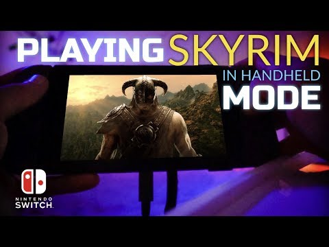 SKYRIM on Nintendo Switch in Handheld Mode - First Impressions + New Gameplay