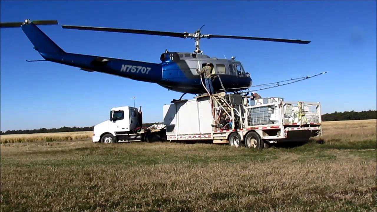 """Huey Helicopter For Sale >> Bell UH-1H """"Huey"""" Crop Dusting Reload - YouTube"""