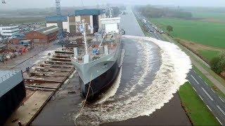 5 Самых Зрелищных Спусков Кораблей На Воду!