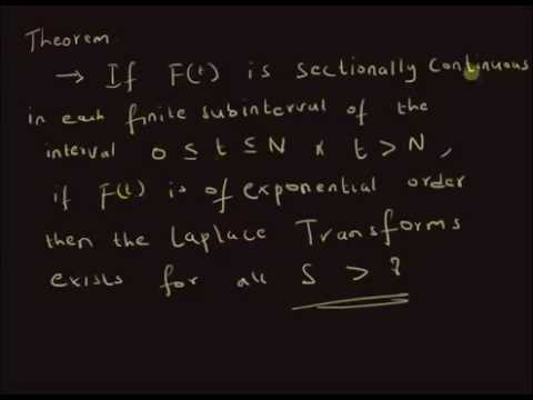 Theorem: Sufficient conditions for Laplace Transform