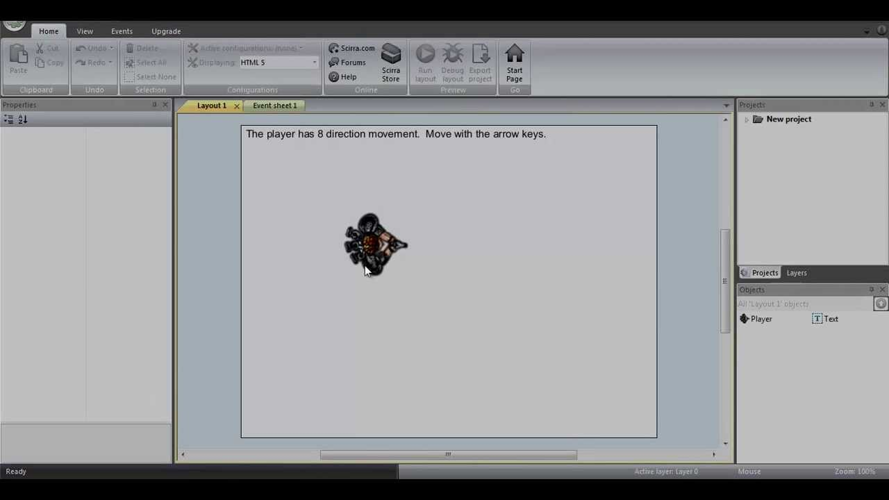 Construct 2 - Top-Down Key-Rotation WASD Movement Tutorial (Mouseless  Forward/Reverse)