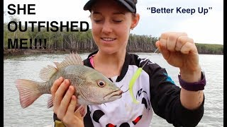 Took The Girlfriend Mangrove Jack Fishing With SOFT PLASTIC LURES