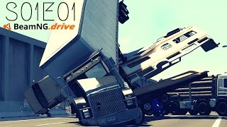 Beamng Drive Movie: Chain Reaction Accident At Matrix Freeway (+ Sound Effects) |PART 1| - S01E01